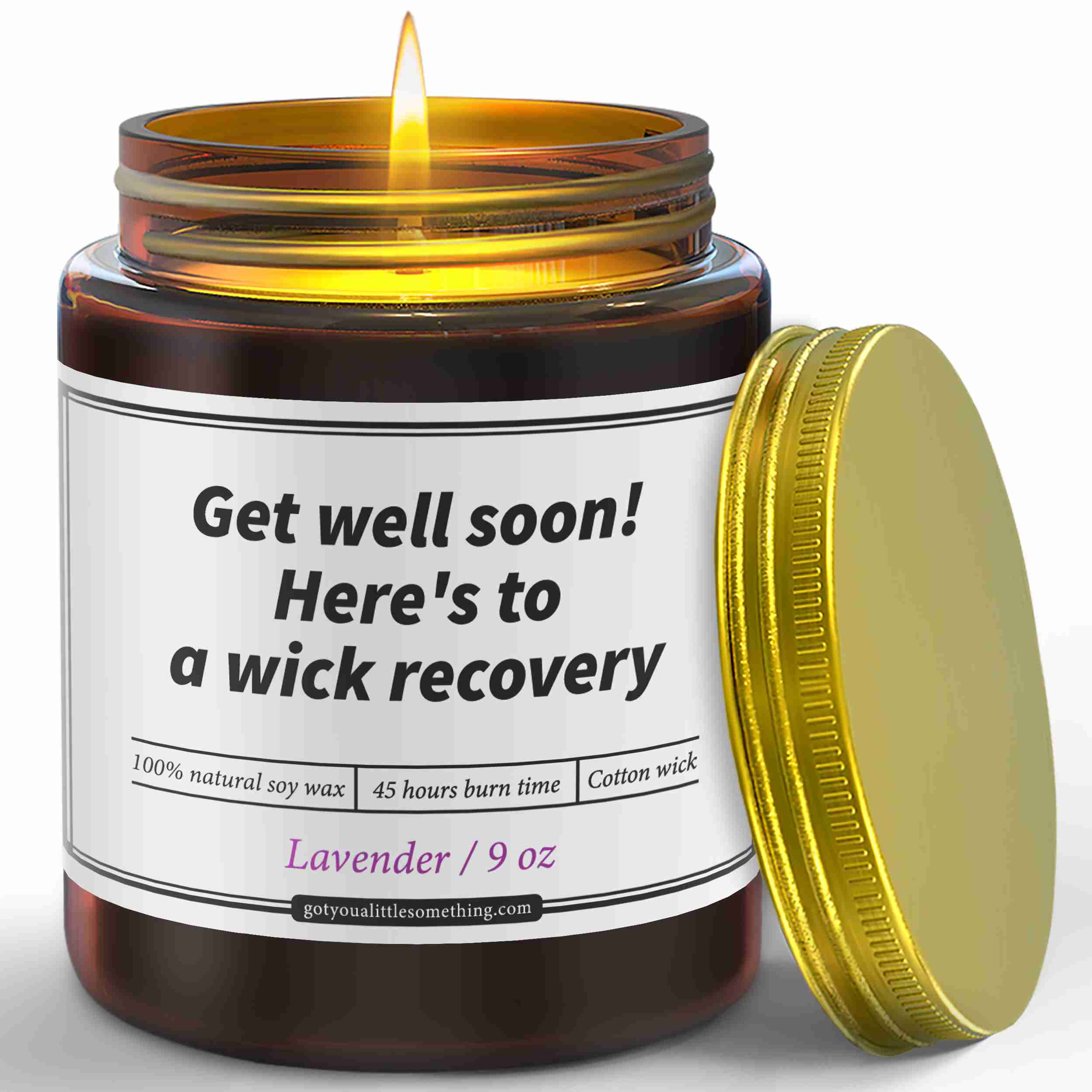Funny-get-well-soon-candle-gift with cash back rebate