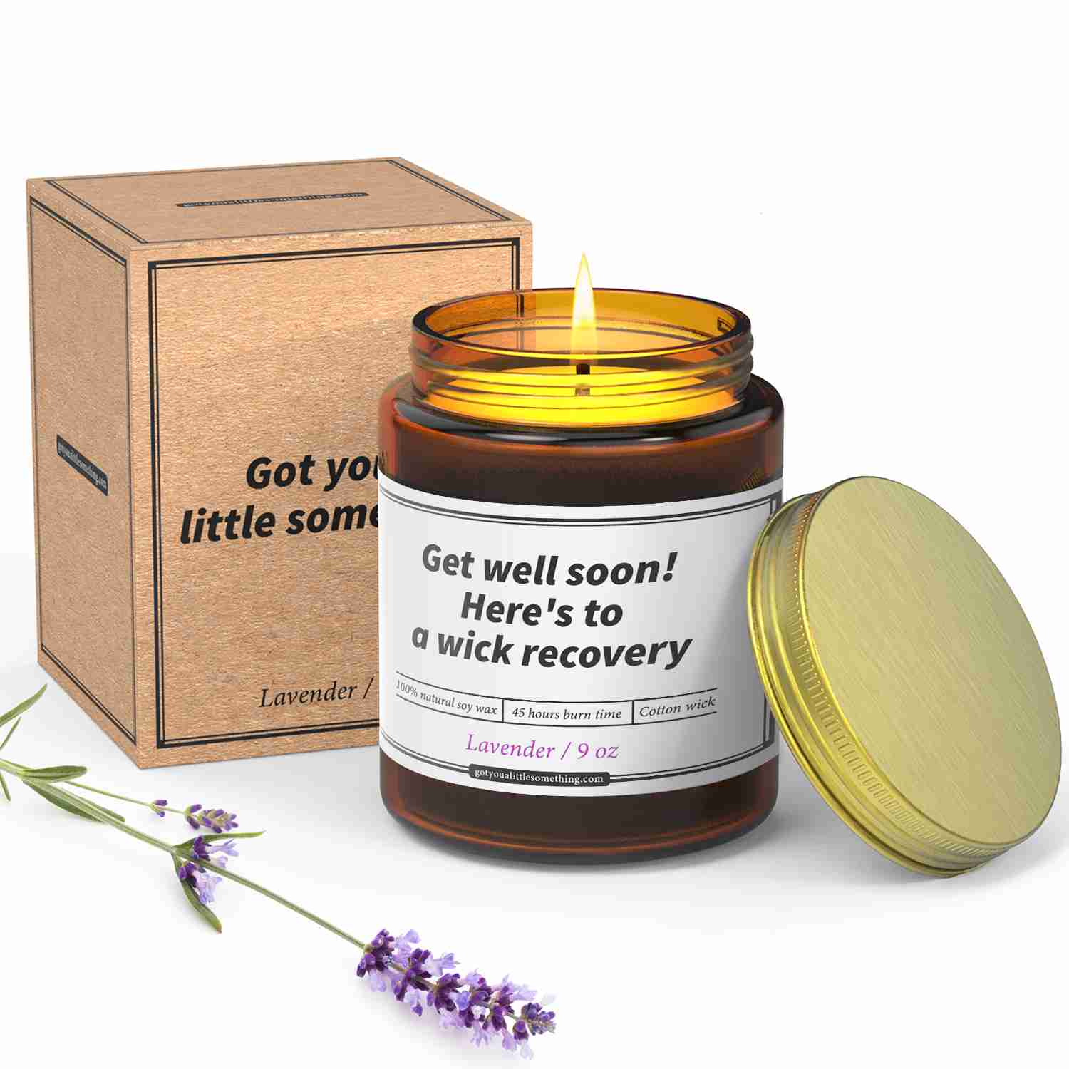 Funny-get-well-soon-candle-gift with discount code